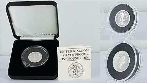 UK 1985 Silver Proof One Pound Coin In Plush Black Case
